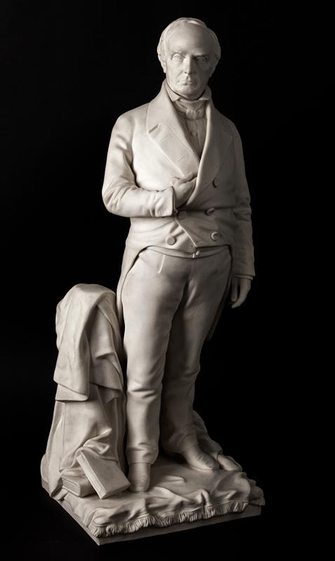 Daniel Webster, Parian Figure After Thomas Ball, G.W. Nichols, Boston, 1853, entire view 2