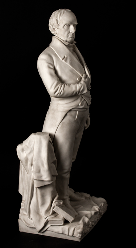Daniel Webster, Parian Figure After Thomas Ball, G.W. Nichols, Boston, 1853, entire view 3