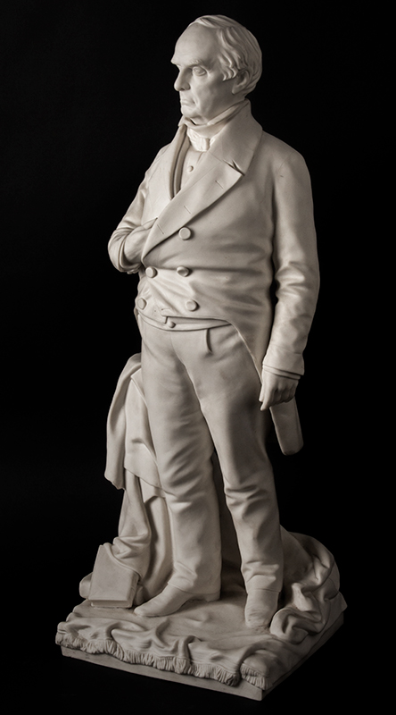 Daniel Webster, Parian Figure After Thomas Ball, G.W. Nichols, Boston, 1853, entire view 4