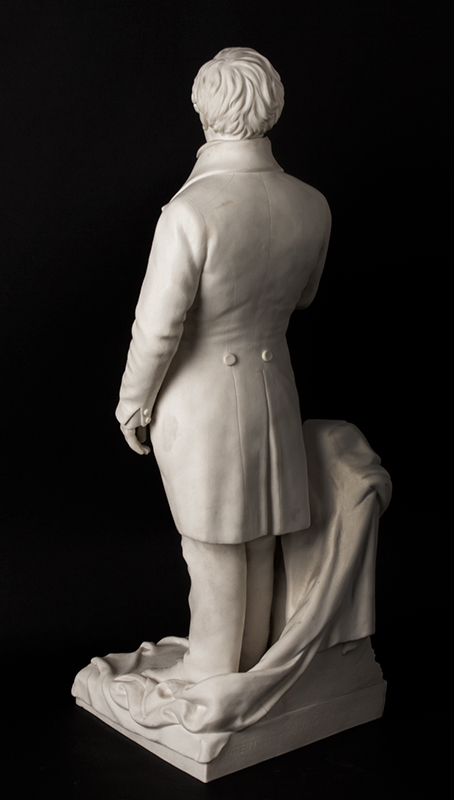 Daniel Webster, Parian Figure After Thomas Ball, G.W. Nichols, Boston, 1853, entire view 5