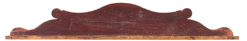 Splash Back, Fancy Scrolling, Original Grain Paint Stenciled on back: C. DENNET – 1819 Wavy Birch, entire view
