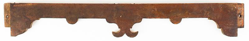 Lowboy Scrolled Apron w/ Fishtail & Original Drawer Pennsylvania, circa 1755, apron view 1