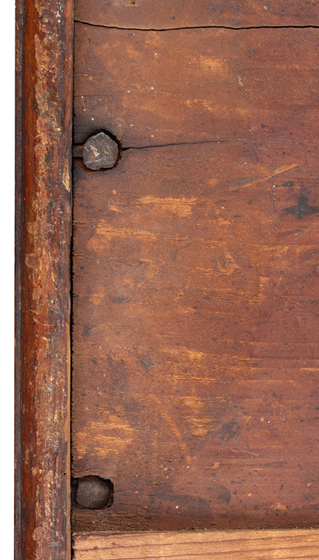 Lowboy Scrolled Apron w/ Fishtail & Original Drawer Pennsylvania, circa 1755, bottom detail