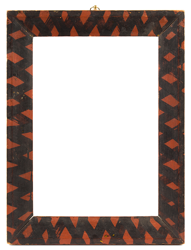 Folk Art Picture Frame, Original Surface History New England, Early 19th Century