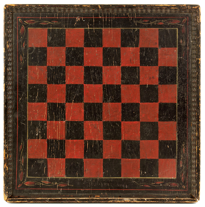 19th Century Gameboard, Original Paint America, entire view