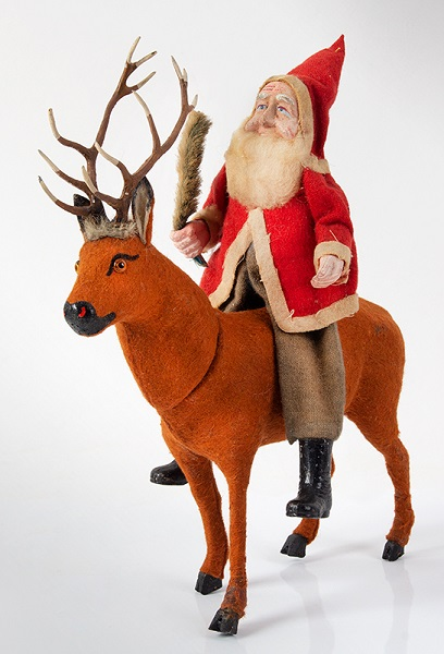 German-Reindeer-Candy-Container-with-Santa-Rider_MH10-83