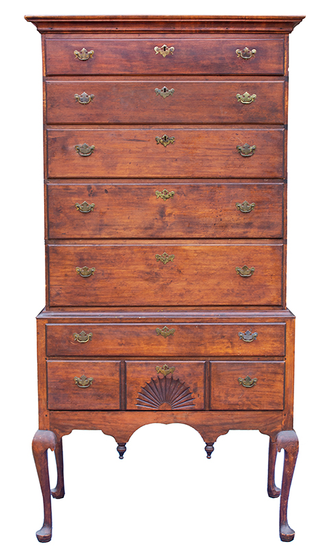 Antique Highboy, Massachusetts, Time Capsule Condition another view