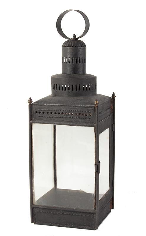 Antique Lantern, Two Tier Chimney  Circa 1750-1800, entire view 1