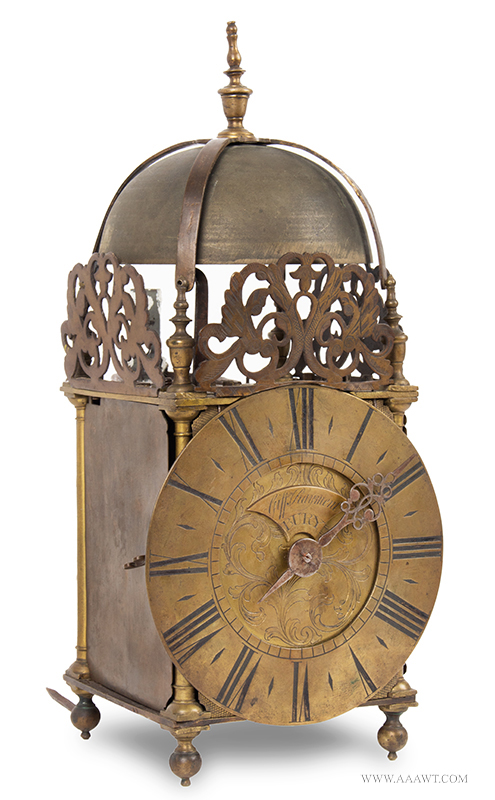 Lantern Clock, Griffin Rayment,  Bury, St. Edmunds, Suffolk,