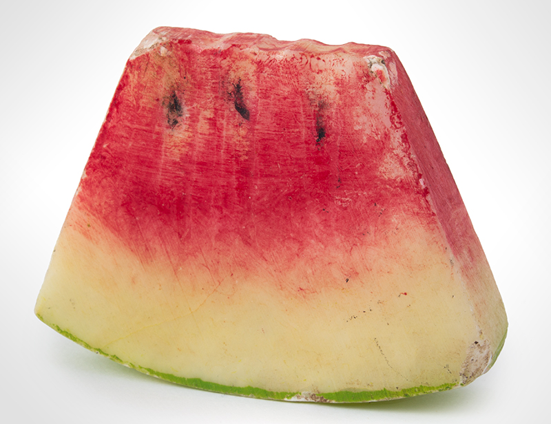 Miniature Stone Watermelon Slice, entire view