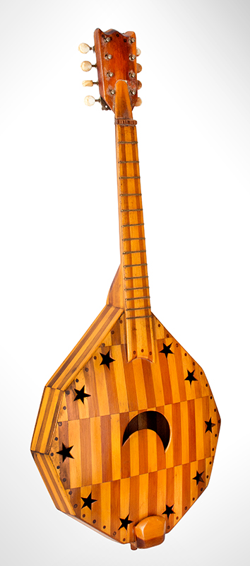 Musical Instrument, Mandolin Folk-Art Mandolin, American, c. 1920's, entire view 2