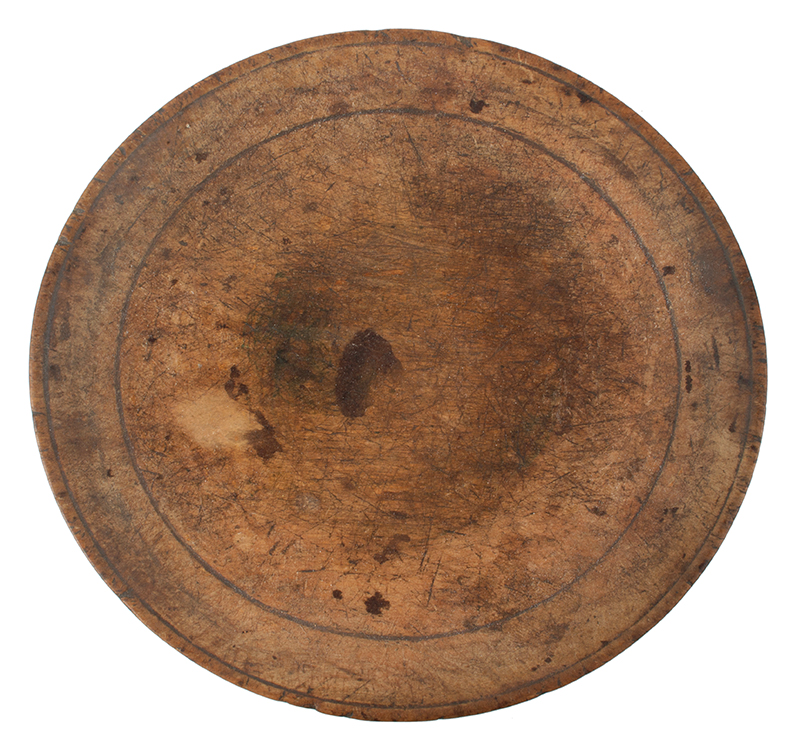 18th Century Treen Dish, Wooden Plate New England, circa 1770-1800 Maple, entire view
