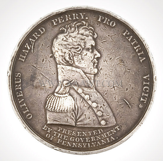 Commandant Oliver Hazard Perry Naval Medal, Silver, Extremely Rare