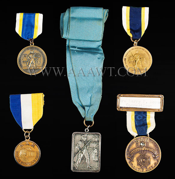 Medals, National Society Sons of American Revolution, Lot of 5