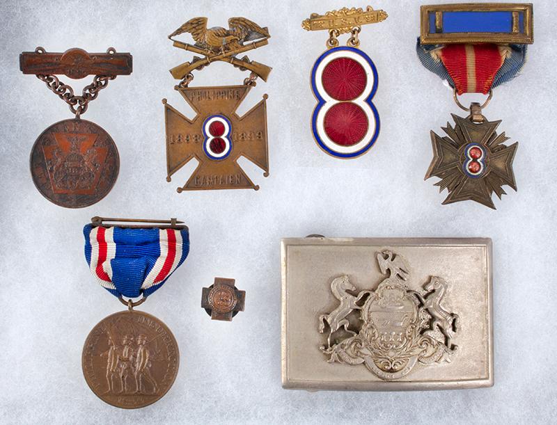 Spanish American War Veteran's Medals & Memorabilia.  Charles M. Faust – Lima, Ohio, detail view 3