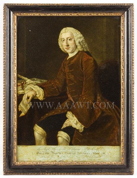 Mezzotint, The Right Honorable William Pitt Esquire, Very Rare