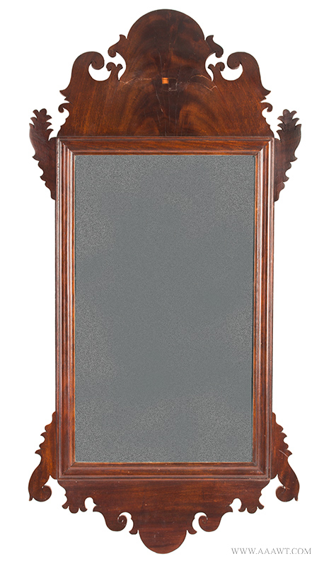 Mirror, Chippendale Looking Glass, Retaining Label of Earps & Co