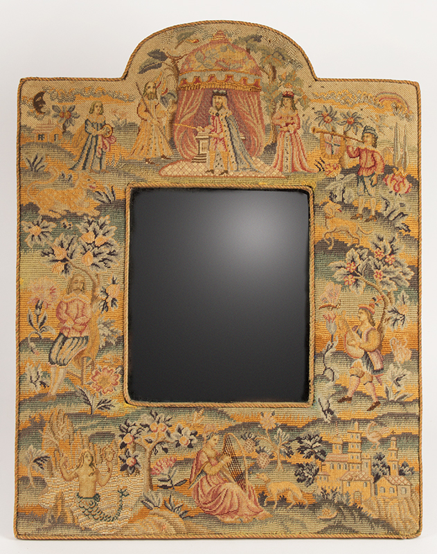 Mirror, Embroidered Frame in the 17th Century Style,view 2