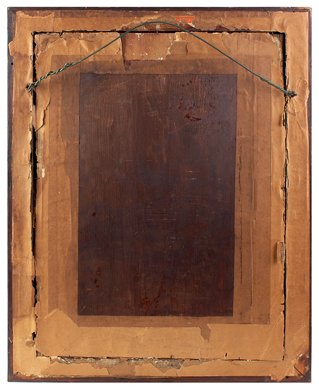 18th Century Mirror – Wall, Queen Anne, Marquetry Inlay, Beveled Plate England, circa 1710-1730, back view