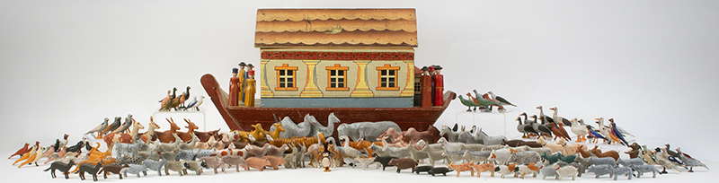 Noah's Ark, Shaped Hull Germany, Late 19th C. Nice display size with large passenger list, entire view 1
