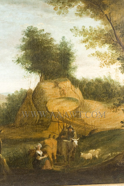 Over-Mantel Landscape Painting, Eighteenth Century,detail-2