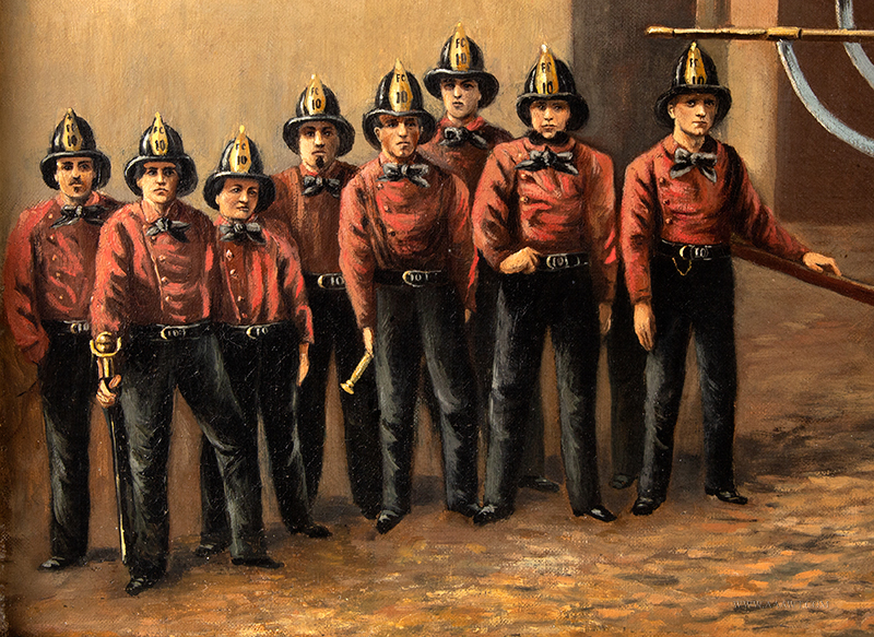 Volunteer Fire Department Painting,  Torrent 10, Hand Pumperdetail-1