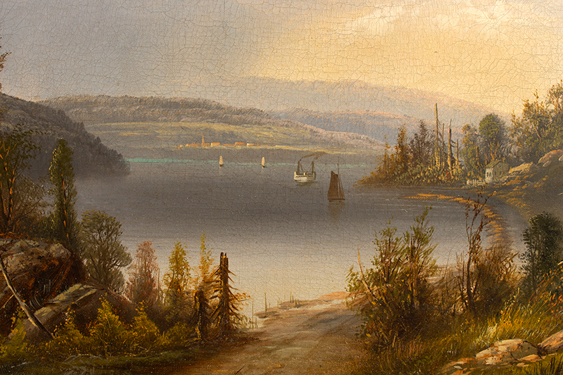 Painting, Lake George, Hudson River Valley School    Anonymous, circa 160-1870