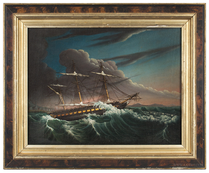 Antique Paintings Maritime Ships Ocean Whaling