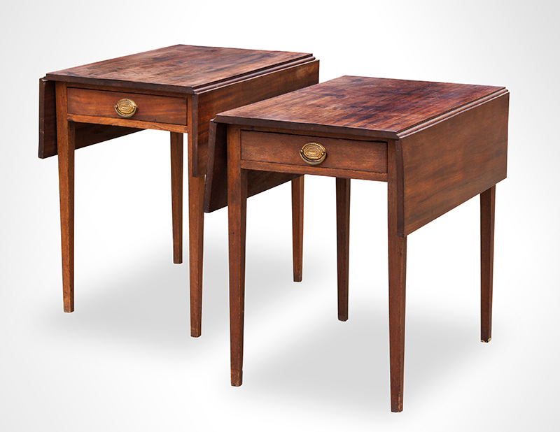 Antique Pembroke-Tables,-Pair,-with-Drawers_view-1