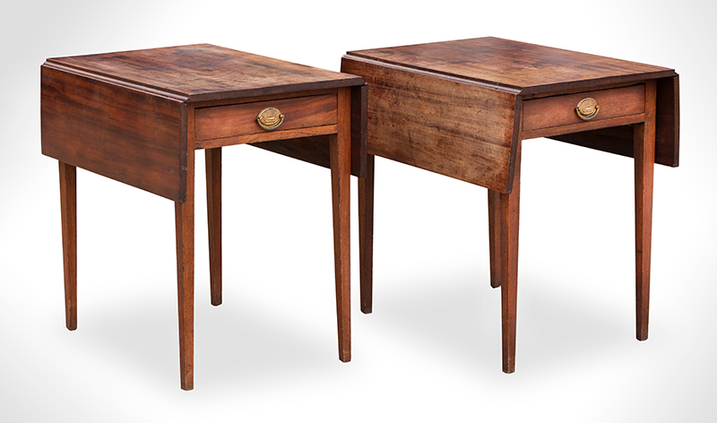 Antique Pembroke-Tables,-Pair,-with-Drawers_view-3