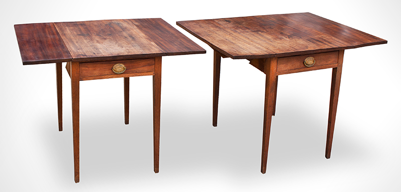 Antique Pembroke-Tables,-Pair,-with-Drawers_view-4