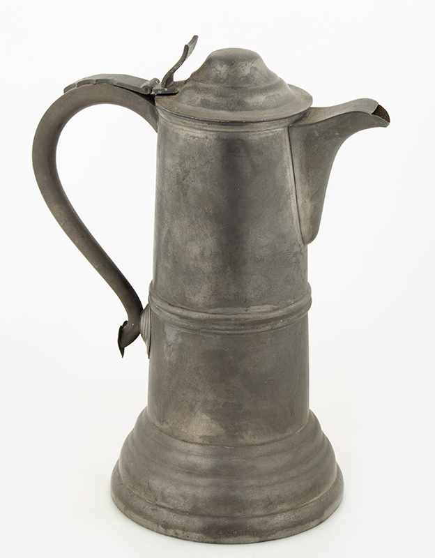 Antique Pewter Flagon, Reed and Barton, Taunton, Massachusetts, Circa 1840, entire view
