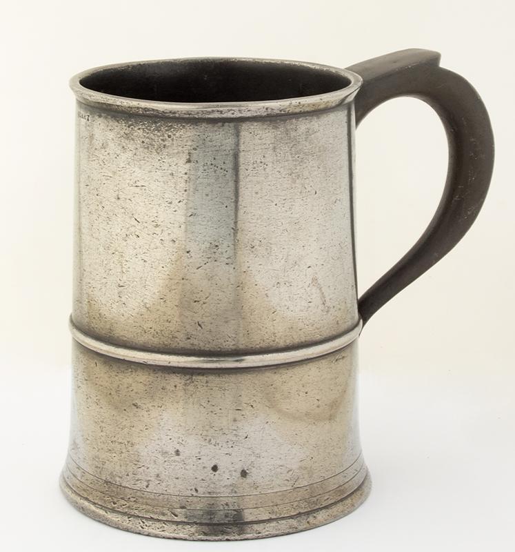 Antique Pewter, Quart Mug, Abbott Gateshead, 1792-1818, entire view