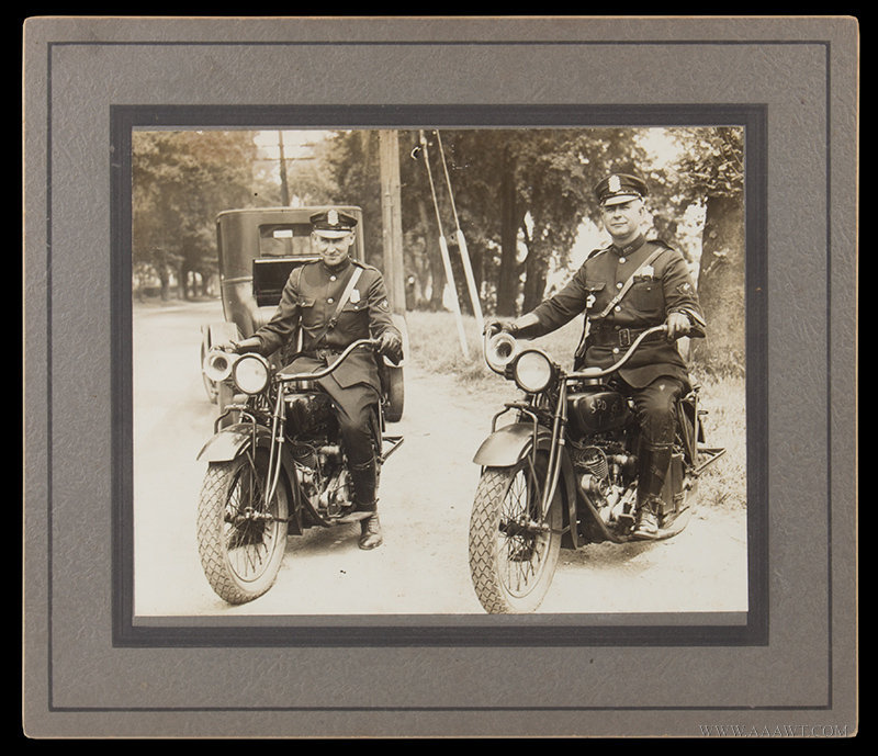 Photographs, Indian Scout Motorcycles in Police Service, Springfield Police Department