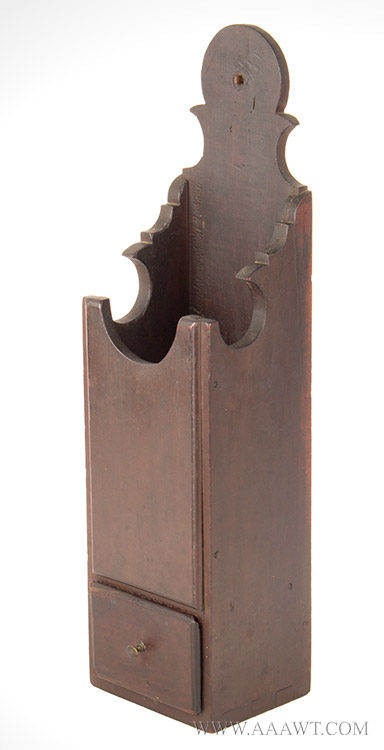 Pipe Box, Hanging, Shaped & Pierced Backboard, Drawer, Original Surface