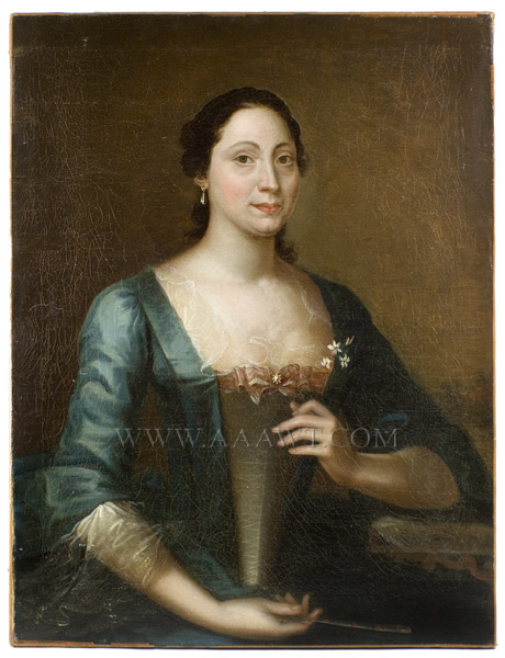 Joseph Blackburn, Portrait, Lady in Blue, entire view