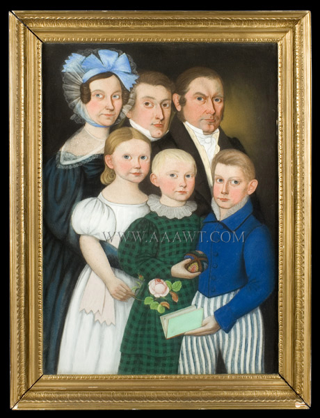 Stunning Early 19th Century Family Portrait, Agreeable and Handsome Composition