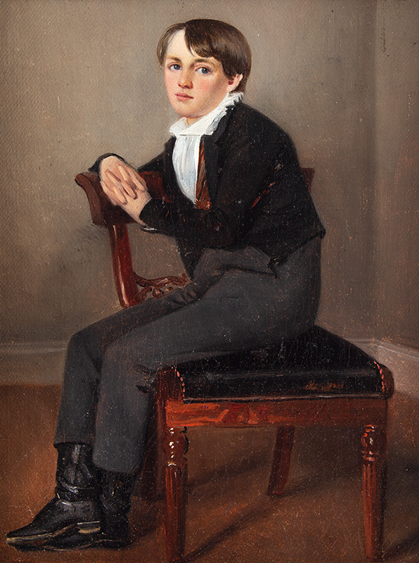Portrait, Schoolboy Seated in Sheraton Chair