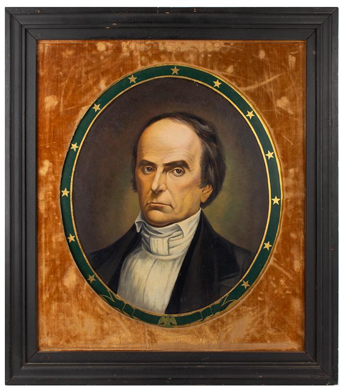 Antique Portrait, Daniel Webster, Statesman   Anonymous, 19th Century Oil on canvas, entire view