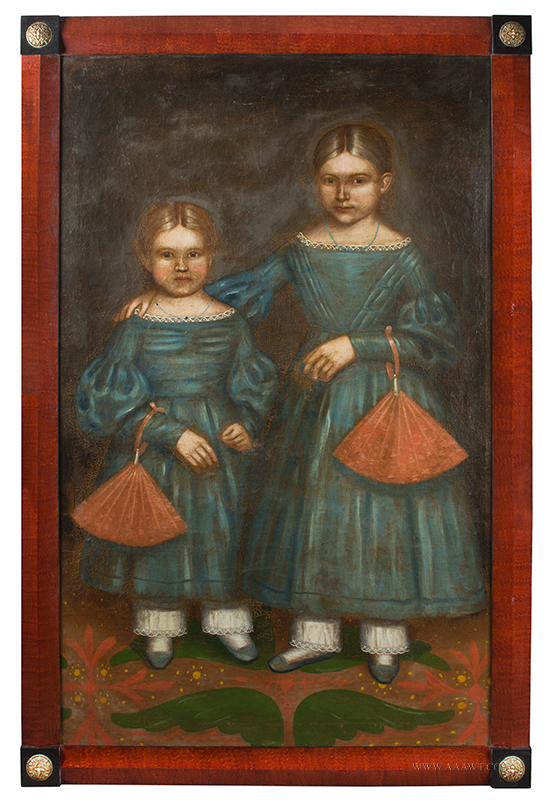 Erastus Salisbury Field, Full Length Portrait, The Smith Sisters Amherst, Massachusetts, Circa 1840, entire view
