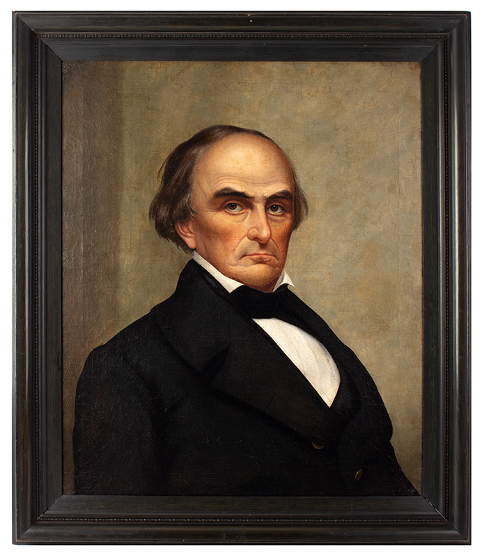 Portrait, Daniel Webster, Joseph Whiting Stock, 19th Century Oil on canvas, entire view