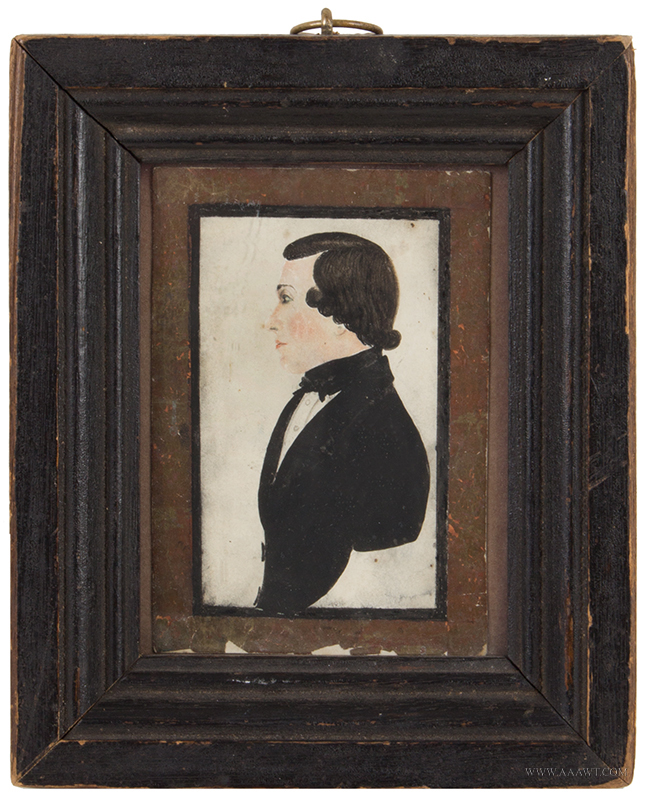 Portrait on Paper, Profile, Gentleman, Granny Note on Verso States John Drake