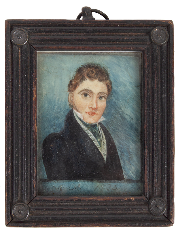 Watercolor Portrait of Young Gentleman        Unknown Artist, circa 1820's