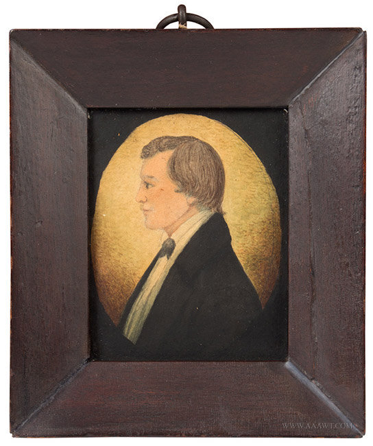 Portrait, Watercolor Profile on Paper