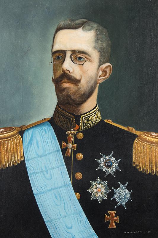 CARL GABRIEL WADELL (1865 – 1909) Portrait of King Gustav V
