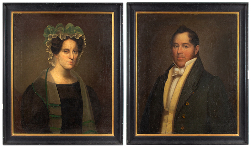 Portraits, Sully, Joseph Howard Cromwell (b. 1786) and Margaret Parish Cromwell (b. 1795)