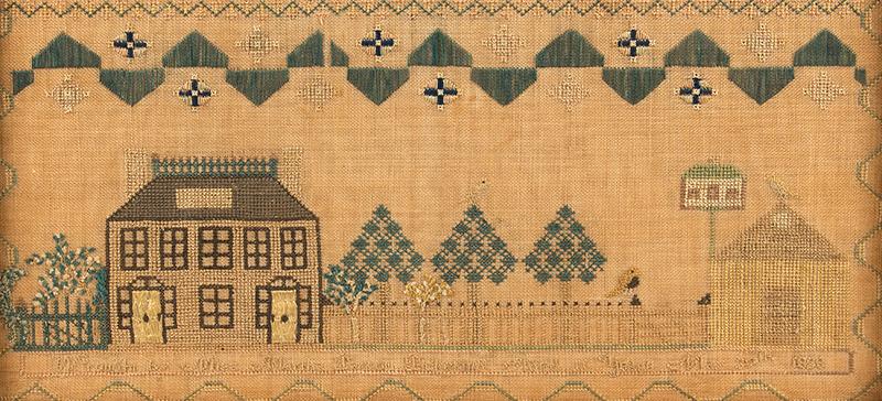 Needlework Sampler: Martha Barron Pickering,  Portsmouth, New Hampshire, 1828