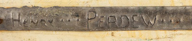 Rigmate Pair, Mallard Duck Decoys by Charles Perdew (1874-1963) Original Paint Henry Illinois A fine pair of original Perdew decoys, male signature detail