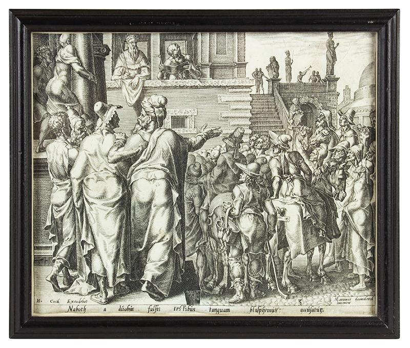 Print, Naboth, After a Drawing by Maerten van Heemskerk (1498-1574)
