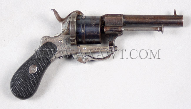 European Pinfire Revolver        With Belgian Proofs
